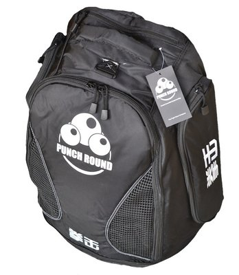 Punch Round™ Boxing Sporttas Rugtas Gym Bag Black Ice