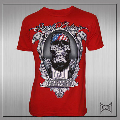 TapouT Chael Sonnen American Gangster T-Shirt Red