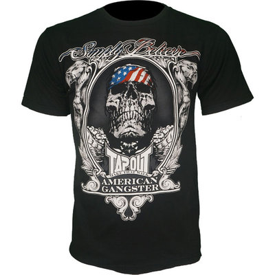 American Gangster TapouT Chael Sonnen T-Shirt Black