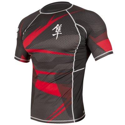 Metaru 47™ Rashguard Hayabusa® Short Sleeve Black Red