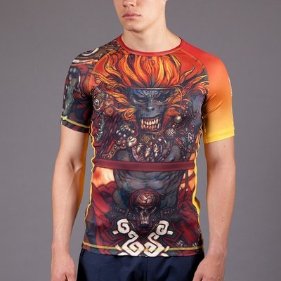 Gawakoto TERADA Monkey King Rashguard Orange BJJ Fightgear