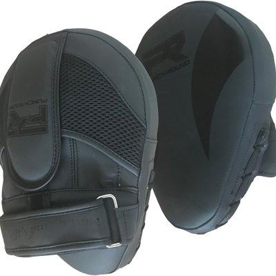 Punch Round Hand Pads Kickboks Pads Slam Black