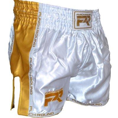 Punch Round Kickboks BroekjesMatte Carbon Wit Goud