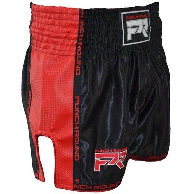 Punch Round Kickboks BroekjesMatte Carbon Zwart Rood