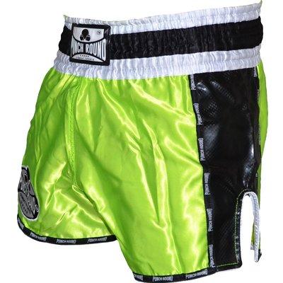 Punch Round™ Carbon Neon Green Muay Thai Kickboks Broekjes