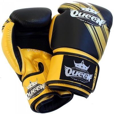 Queen BGQ Vixen 2 Kickboks Bokshandschoenen Black Gold