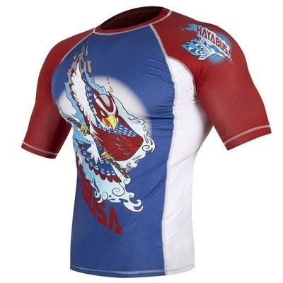 Hayabusa Ninja Falcon Rashguard Blue S/S Vechtsport Winkel