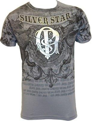 Silver Star GSP Foil T Shirt Grey UFC MMA T Shirts
