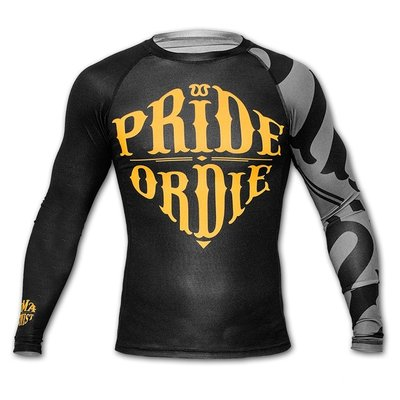 Pride or Die Rashguard RECKLESS Black Grey