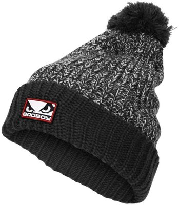 Bad Boy Wol met Fleece Bobble Beanie Muts Grijs