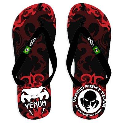 Wand Inferno Sandals Flip Flop Black Red size 37/38