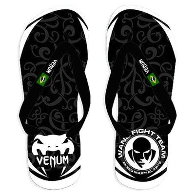 Wand Inferno Sandals Flip Flop Black White
