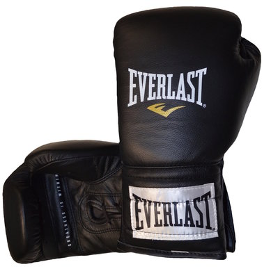 Everlast Professional Laced Training Bokshandschoenen 14oz Zwart