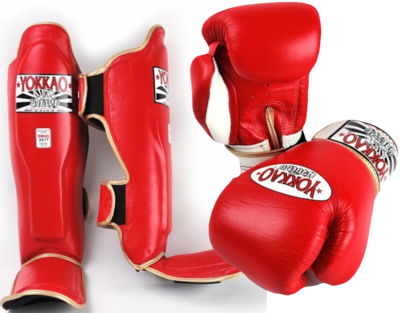 Yokkao Kickboks Set Red 16 OZ & Maat L