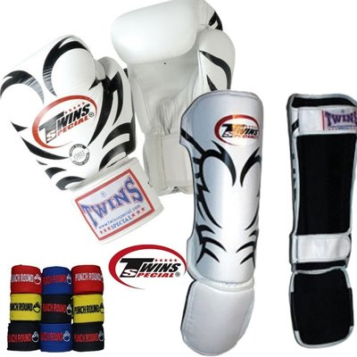 Twins Kickboks set Tribal Wit incl Bandage