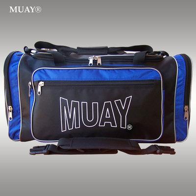 MUAY Sporttas Gym Bag Kickboks Tas Zwart Blauw by MUAY Fightgear