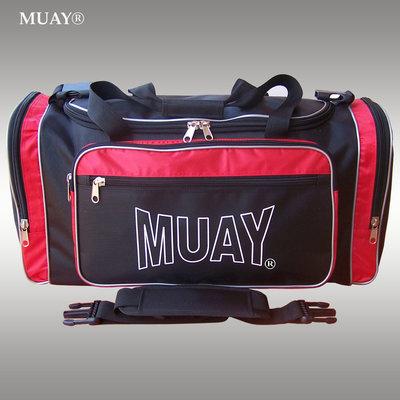 MUAY Sporttas Gym Bag Kickboks Tas Zwart Rood by MUAY Fightgear