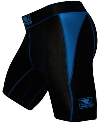 Bad Boy Honour Compression Vale Tudo Shorts Black Blue