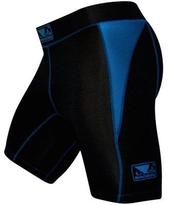 Bad Boy Honour Compression Vale Tudo Shorts Black Blue
