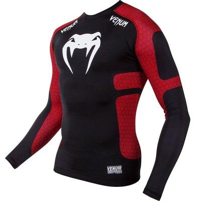 Venum Absolute Rashguard Black Red L/S Vechtsport Kleding