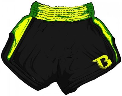Booster Kickboks Shorts TBS Retro Yellow V2 Muay Thai