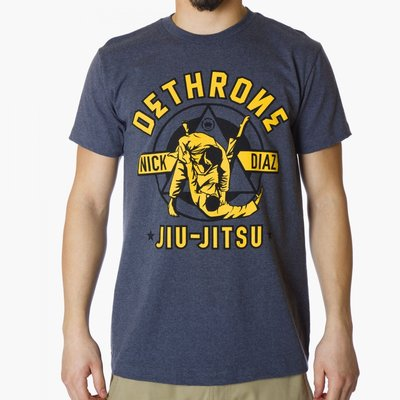 Dethrone Diaz Jiu Jitsu T Shirt Navy BJJ
