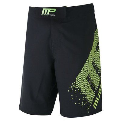 MusclePharm Pixel MMA Fight Short Black UFC Kleding