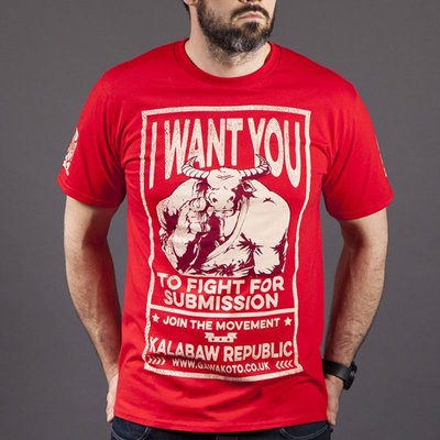 Gawakoto Kalabaw Republic T Shirt Red BJJ Fightwear
