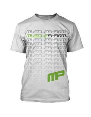 MusclePharm Flagship T Shirts White Fitness Kleding
