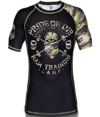 Rash Guard PRiDE or DiE RAW TRAINING CAMP S/S