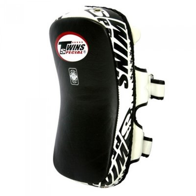 Twins Curved Arm Pads Kick Pads TKP 6 Leather Black White
