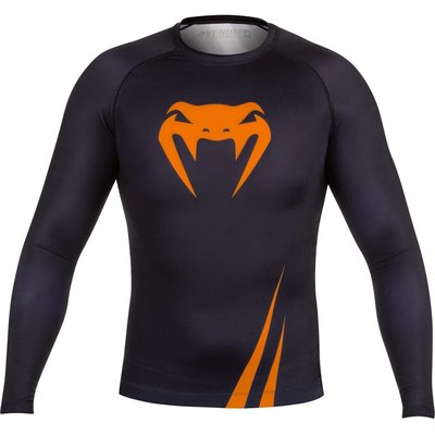 Venum Challenger Rash Guard L/S Black Orange MMA Kleding