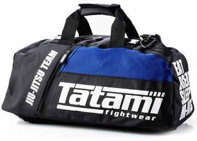 Tatami Jiu Jitsu Gear Bag Gym Bag BJJ Sporttas Zwart Blauw