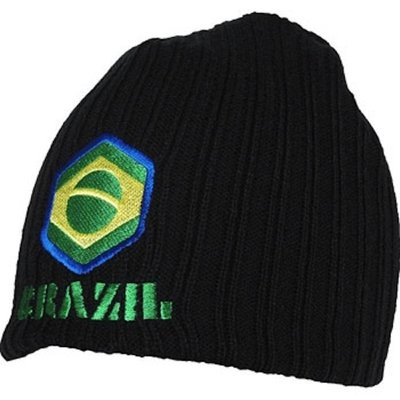 Bad Boy Beanie Muts Brazil Black by Bad Boy Fightwear