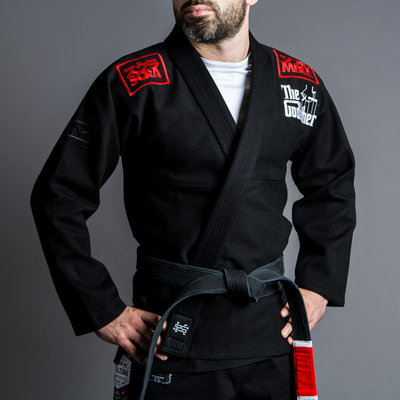 SCRAMBLE X THE GODFATHER Kimono BJJ Gi Black
