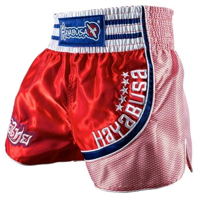 Hayabusa Muay Thai Shorts Lion Warrior Red Kickboks Broekje