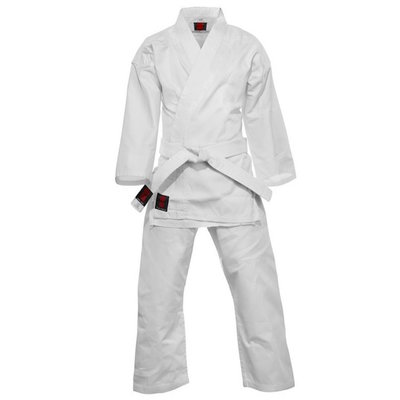 Karatepak Kensu Wit Karate Gi met Witte Band Essimo