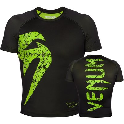 Venum Original Giant Rash Guard Neo Yellow S/S MMA Shop