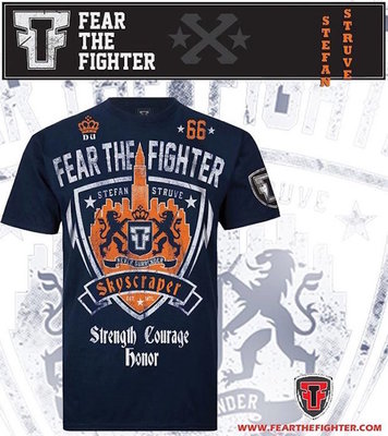 Fear the Fighter Stefan Struve UFC on Fuel T Shirts Navy size S