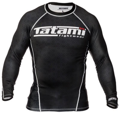 Tatami BJJ Fightwear L/S IBJJF Rash Guards Black