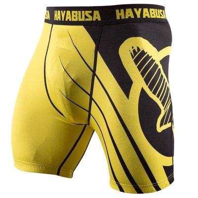 Hayabusa Recast Compression Shorts Yellow Vechtsport Kleding