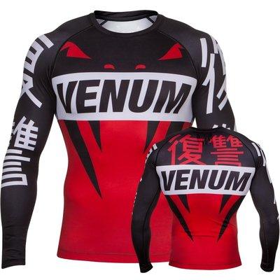 Venum Revenge Rash Guard L/S Black Red MMA Vechtsport Winkel