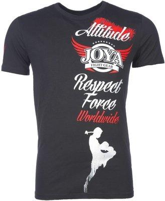 Joya Kickboks T Shirts Attitude Black by Joya Kickboks Kleding
