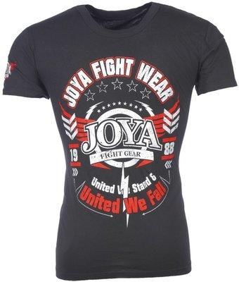 Joya Kickboks T Shirts Fightwear Black by Joya Kickboks Kleding