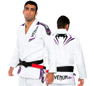 Venum Elite BJJ GI White Purple BJJ Fight Gear Nederland