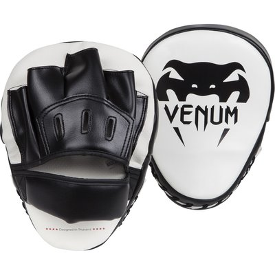 Venum Light Focus Punch Mitts Pads Ice Black Kickboks Spullen