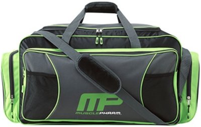 MusclePharm Duffle Bag Logo Sporttas MPA5 Black Grey Green