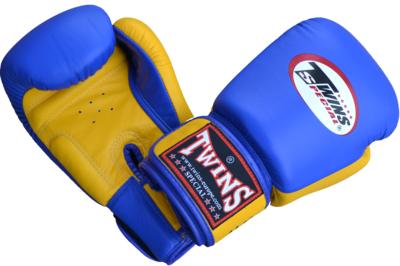 Kickboks Bokshandschoenen Twins BGVL 3 Blue Yellow