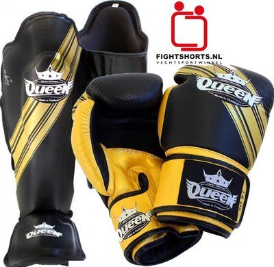 Queen Vixen Dames Kickboks Muay Thai set Black Gold