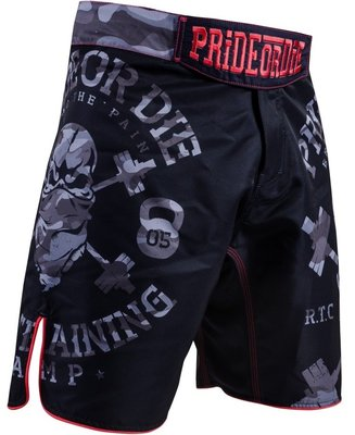 PRIDEorDIE MMA Fightshorts RAW TRAINING CAMP Urban